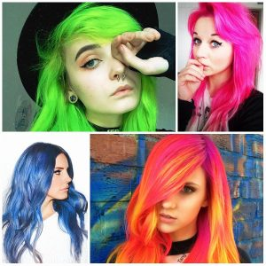 why a teenager dyes her hair